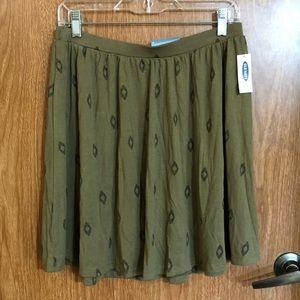 Old navy green skirt medium pattern boho nwt Mori